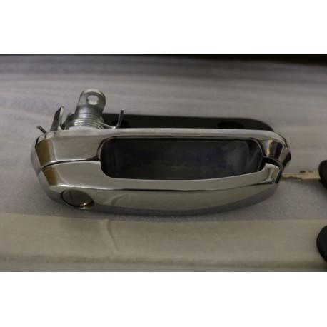 poignée avec serrure et deux boucles hardtop Cover King Top, Roxform - chrome