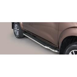 Nerezové boční nášlapy průměr 50 mm - Nissan NP300 Navara