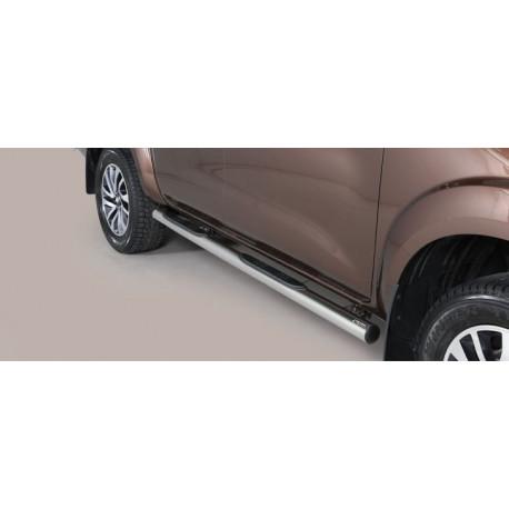Nerezové boční nášlapy průměr 76 mm - Nissan NP300 Navara