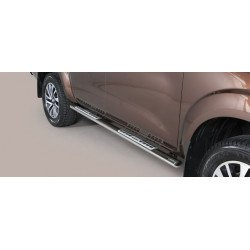 Nerezové boční nášlapy oválné - Nissan NP300 Navara