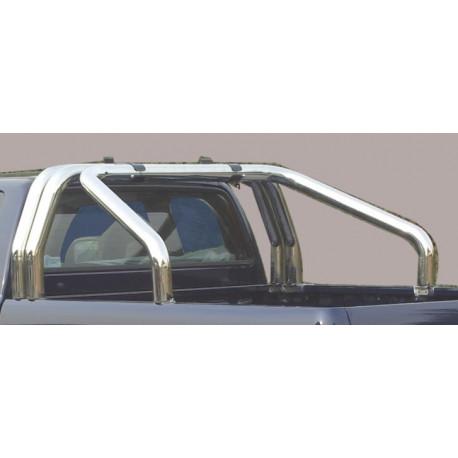 Nerezový rám korby double průměr 76 mm - Nissan NP300 Navara