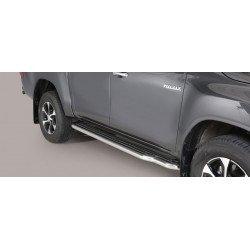Nerezové boční nášlapy průměr 50 mm - Toyota Hilux 16+