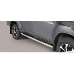 Nerezové boční nášlapy průměr 76 mm - Toyota Hilux 16+