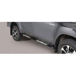 Nerezové boční nášlapy oválné - Toyota Hilux 16+