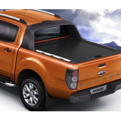 Mountain Top Aluminium Roll cover, black Ford Ranger Wildtrak DC
