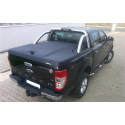 Aeroklas Galaxy cover, with Aeroklas Styling bar, black grain ABS surface Ford Ranger