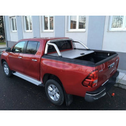Mountain Top Aluminium Roll cover silver -Toyota Hilux Extra Cab