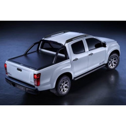 Mountain Top Aluminium Rolo abdeckung Black Ford Ranger Double cab