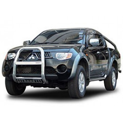 """A Bar + Plate Guard Stainless Steel 3"""" for Mitsubishi L200.MK.5 (Triton)"""