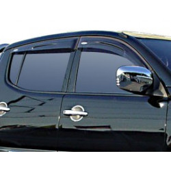 Wind Deflectors Slim-Line, Light Smoke for Mitsubishi L200. till 2005