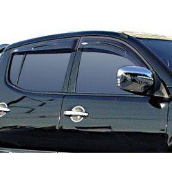 Wind Deflectors Slim-Line, Light Smoke for Mitsubishi L200. till 2005 Set of 4