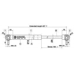 Shock absorber CKT 04 - 300N for model Work II / Windows II